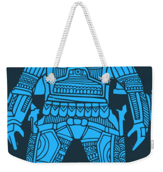 Boba Fett - Star Wars Art, Blue Weekender Tote Bag