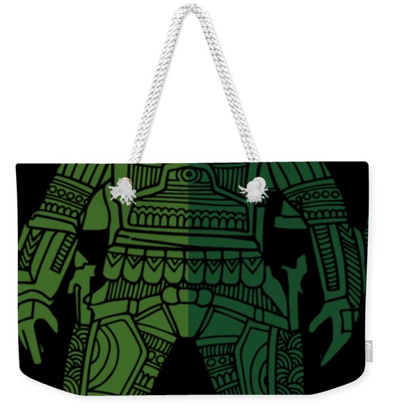 Boba Fett - Star Wars Art, Green 02 Weekender Tote Bag