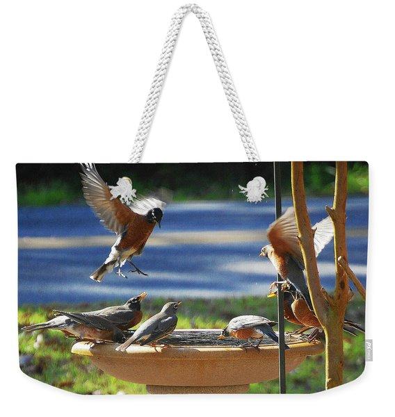 Bobbin Robins Weekender Tote Bag