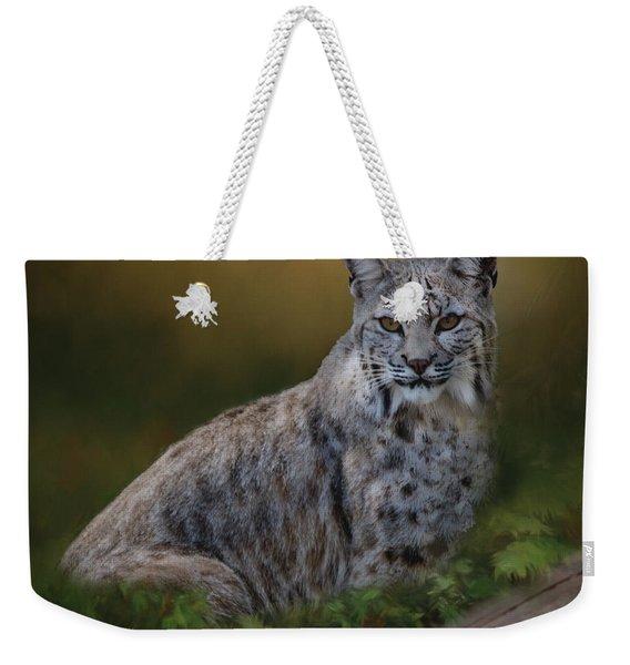 Bobcat On Alert Weekender Tote Bag