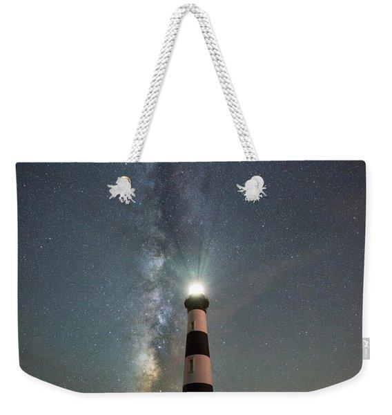 Bodie Island Light Milky Way Portrait Weekender Tote Bag