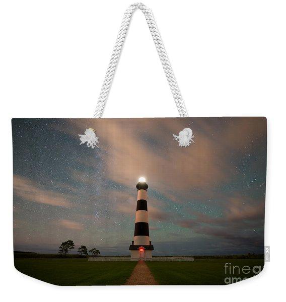 Bodie Island Lighthouse Dreamy Night Weekender Tote Bag