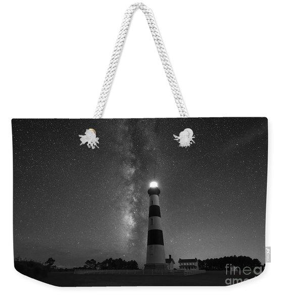 Bodie Island Lighthouse Milky Way Bw Weekender Tote Bag