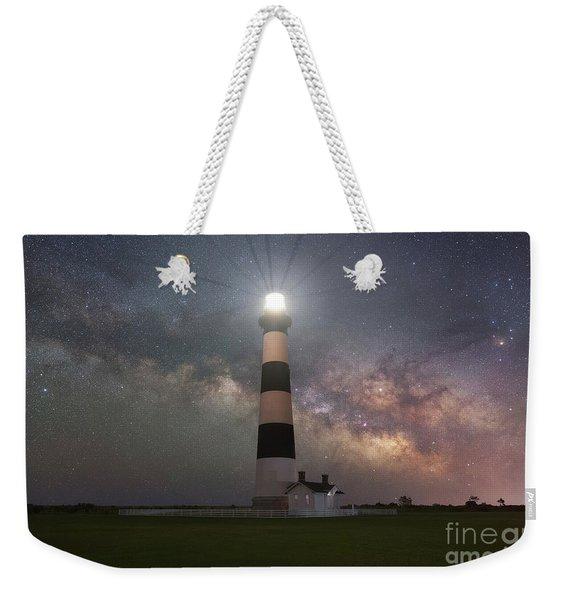 Bodie Island Lighthouse Milky Way Galaxy  Weekender Tote Bag