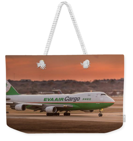 Boeing 747 On The Take-off Roll Weekender Tote Bag