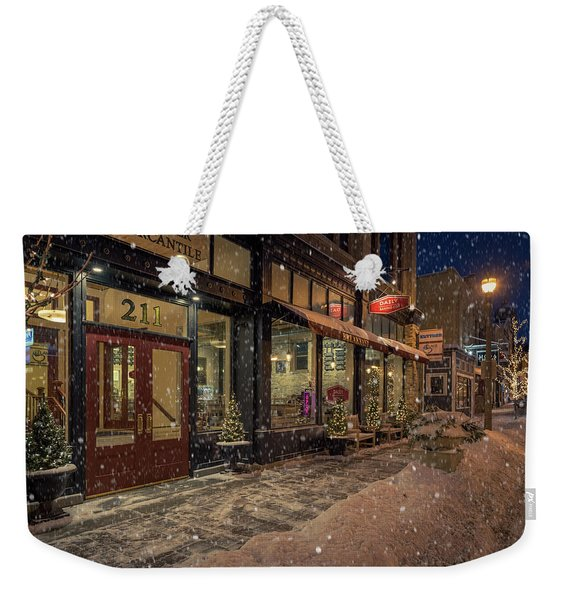 Boerner Mercantile Christmas Weekender Tote Bag