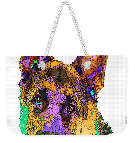 Bogart The Shepherd. Pet Series Weekender Tote Bag