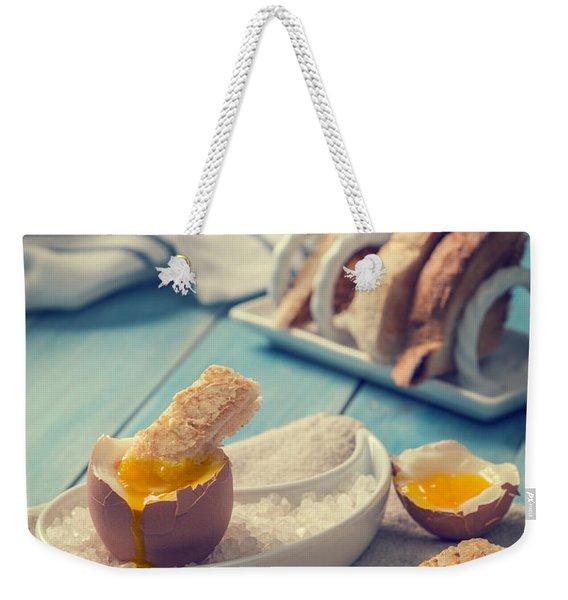 Boiled Egg Weekender Tote Bag