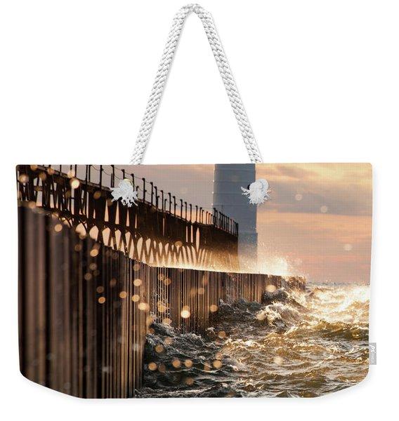 Bokeh On Lake Michigan Weekender Tote Bag