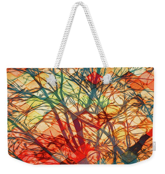 Bold And Colorful Weekender Tote Bag