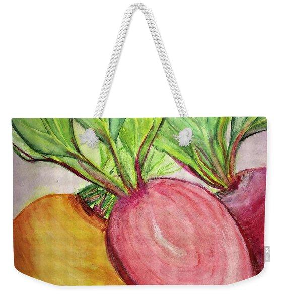 Bold Beets Weekender Tote Bag