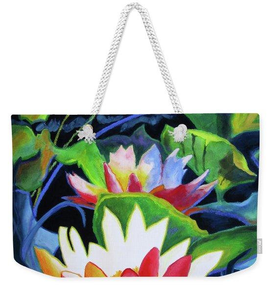 Bold Lilypads Weekender Tote Bag