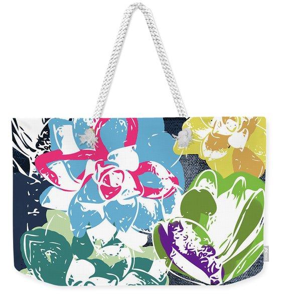 Bold Succulents 2- Art By Linda Woods Weekender Tote Bag