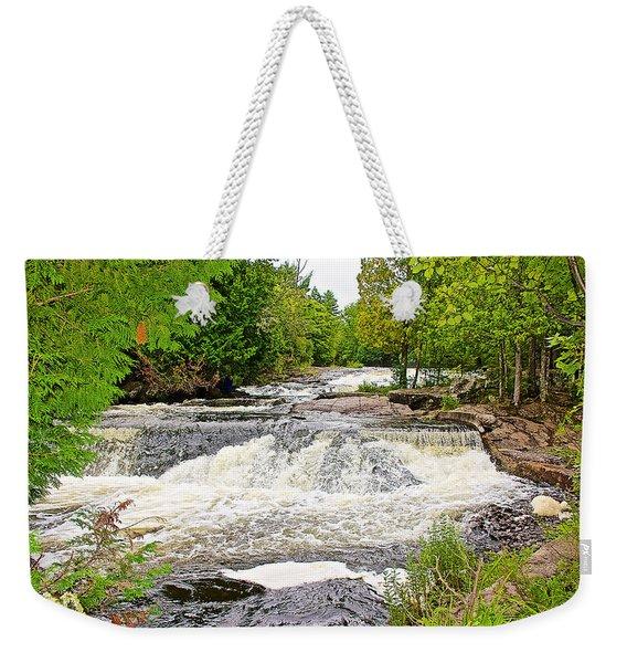 Bond Falls Flowage In Upper Peninsula-michigan  Weekender Tote Bag