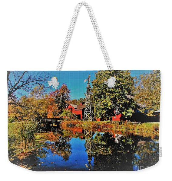 Bonneyville Grist Mill            Elkhart County        Autumn           Indiana Weekender Tote Bag