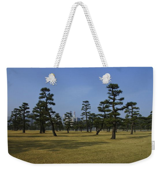 Bonsai Trees And Tokyo Skyscrapers Weekender Tote Bag