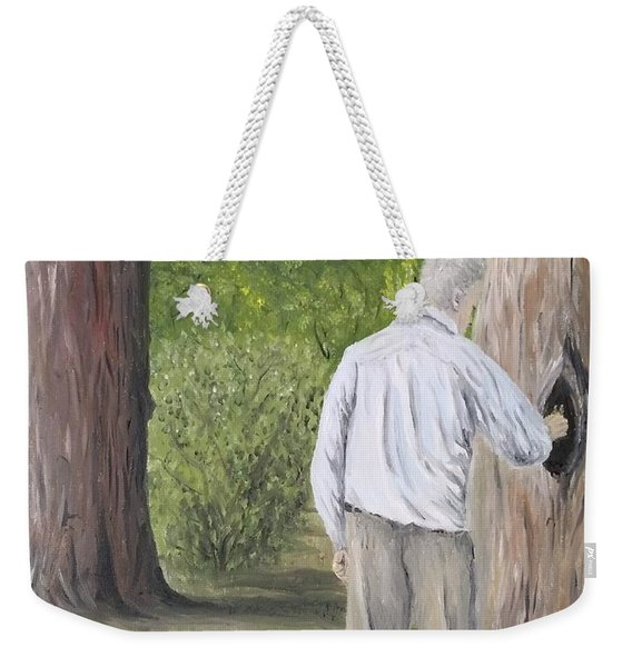 Weekender Tote Bag featuring the painting Boo by Kevin Daly