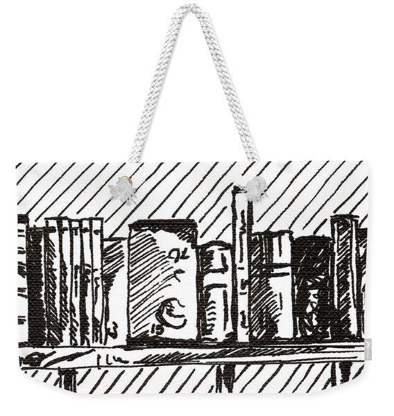 Bookshelf 1 2015 - Aceo Weekender Tote Bag
