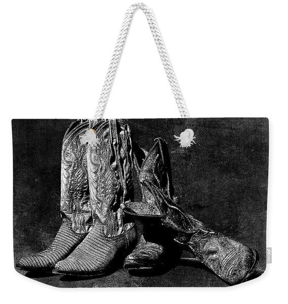 Boot Friends - Art Bw Weekender Tote Bag