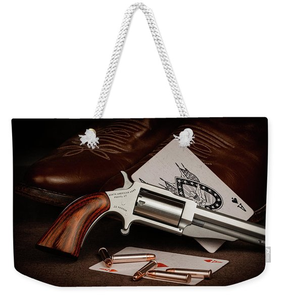Boot Gun Still Life Weekender Tote Bag