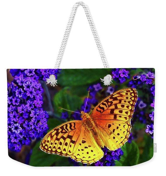 Boothbay Butterfly Weekender Tote Bag