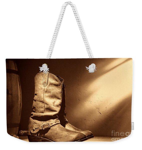 Boots At The Hacienda  Weekender Tote Bag