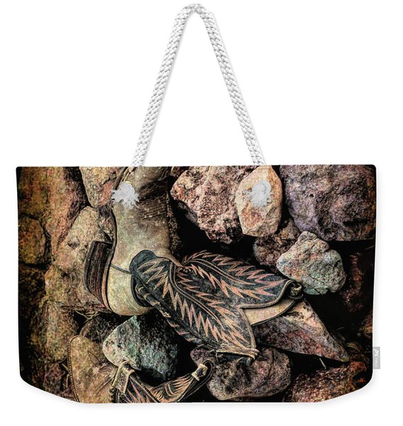 Weekender Tote Bag featuring the photograph Boots by Michael Hope