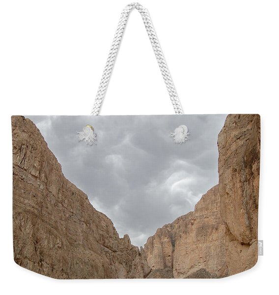 Boquillas Canyon And Scalloped Clouds Big Bend National Park Texas Weekender Tote Bag