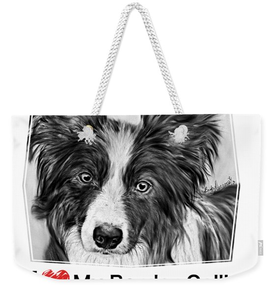 Border Collie Stare Weekender Tote Bag