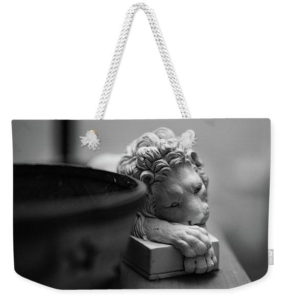 Weekender Tote Bag featuring the photograph Bored by Break The Silhouette