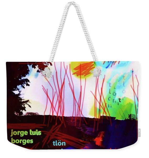 Borges Tlon Poster 2 Weekender Tote Bag