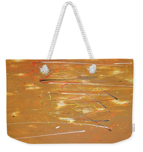 Weekender Tote Bag featuring the painting Born Again by Michael Lucarelli