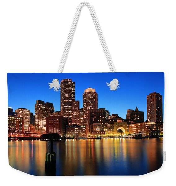 Boston Aglow Weekender Tote Bag