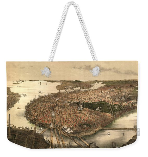 Boston Bird's-eye View From The North Weekender Tote Bag