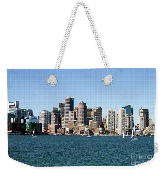 Boston City Skyline Weekender Tote Bag