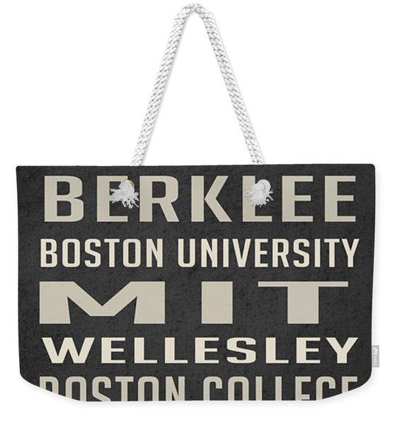 Boston Colleges Poster Weekender Tote Bag