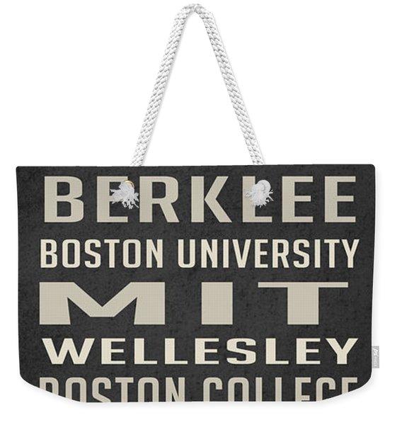 Boston Collegetown Weekender Tote Bag