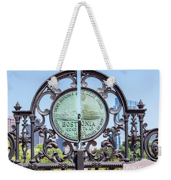 Boston Garden Gate Detail Weekender Tote Bag