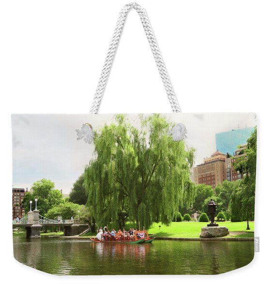 Boston Garden Swan Boat Weekender Tote Bag