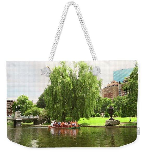 Boston Garden Swan Boat Weekender Tote Bag