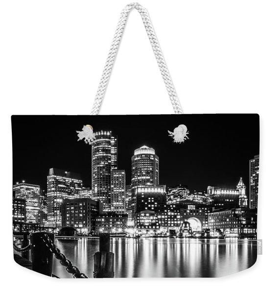 Boston Harbor At Night Weekender Tote Bag