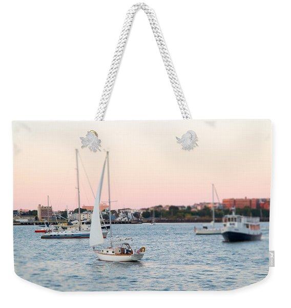 Boston Harbor View Weekender Tote Bag