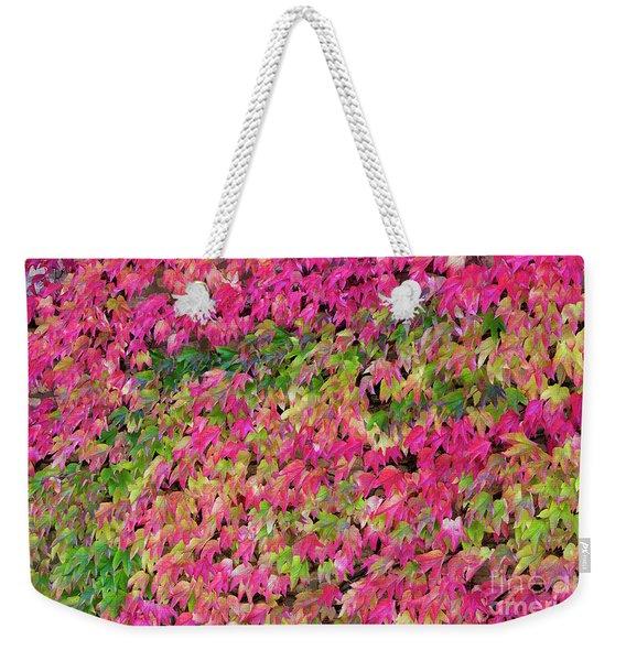 Boston Ivy In Autumn Weekender Tote Bag