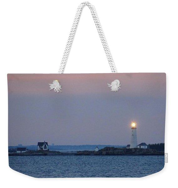 Boston Light Lighthouse  Weekender Tote Bag