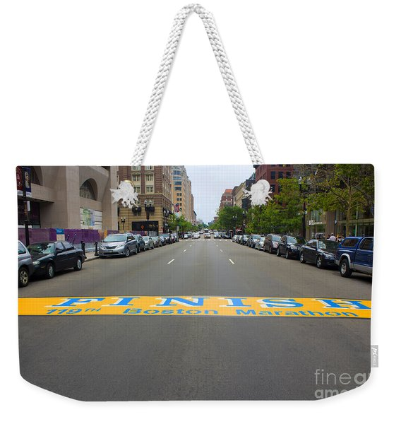 Boston Marathon Finish Line Weekender Tote Bag