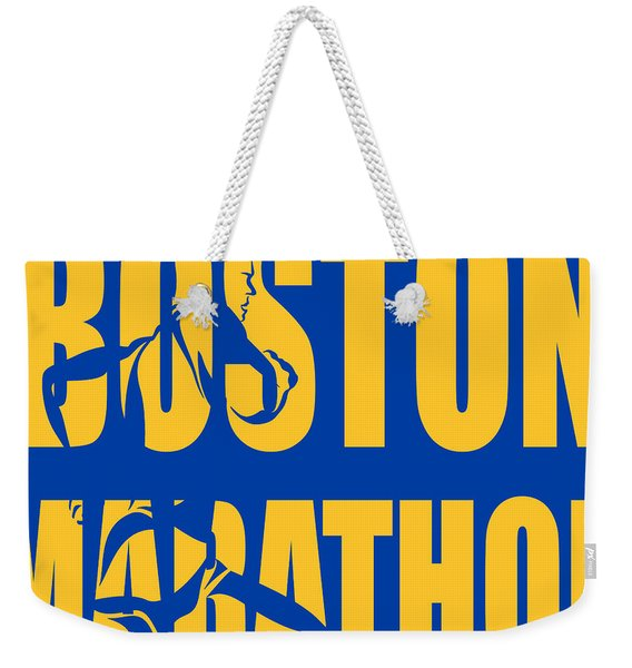 Boston Marathon Weekender Tote Bag