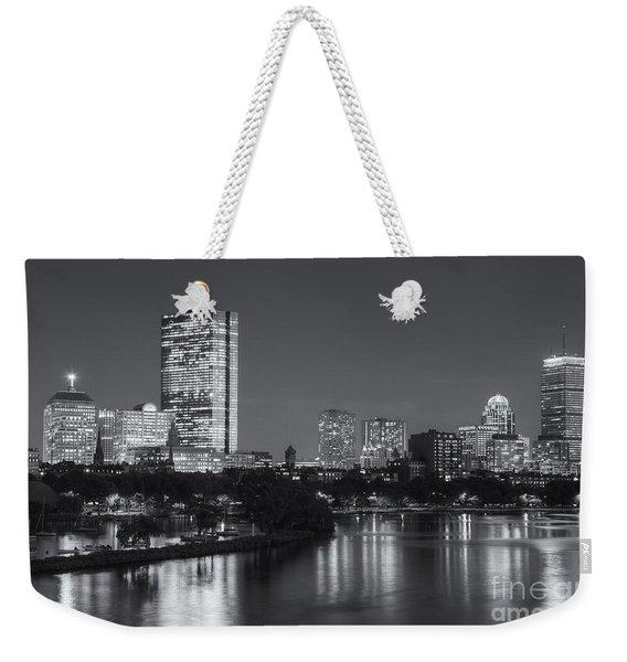 Boston Night Skyline V Weekender Tote Bag