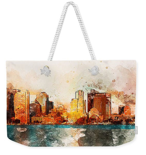 Boston, Panorama - 10 Weekender Tote Bag