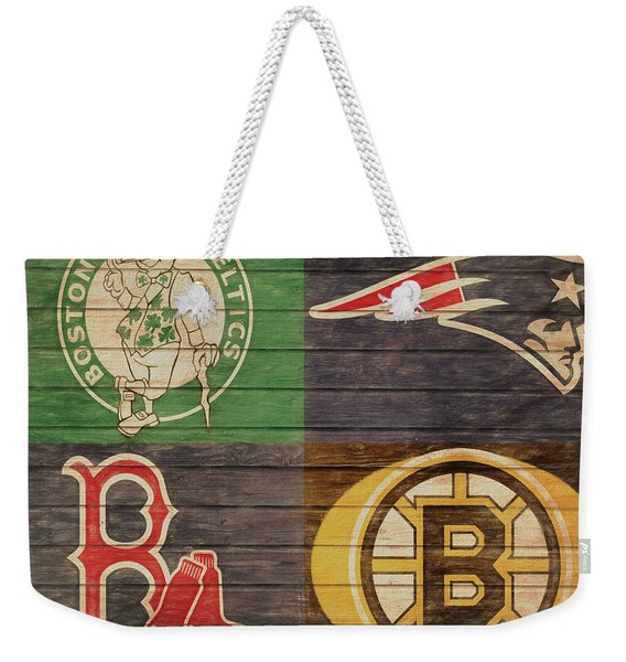 Boston Sports Teams Barn Door Weekender Tote Bag