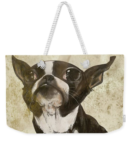 Boston Terrier - Antique Weekender Tote Bag